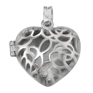 Stainless steel pendant Stainless Steel Heart Love Tribal_pattern