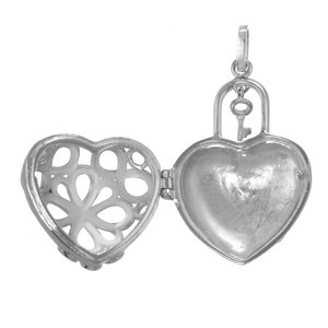 Stainless steel pendant Stainless Steel Heart Love Key Flower Leaf Plant_pattern Eternal Loop Eternity