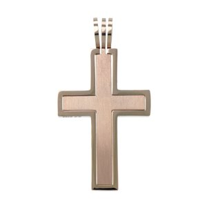 Stainless steel pendant Stainless Steel PVD-coating (gold color) Cross