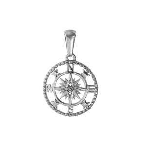 Stainless steel pendant Stainless Steel Crystal Anchor rope ship