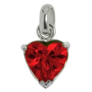 Stainless steel pendant Stainless Steel zirconia Heart Love