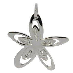 Stainless steel pendant Stainless Steel Crystal Flower