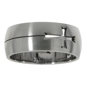 Stainless steel ring Stainless Steel Cross
