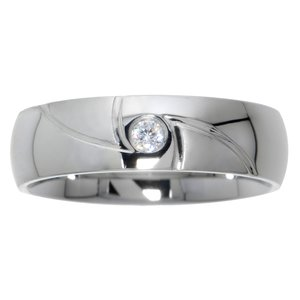 Stainless steel ring Stainless Steel zirconia Stripes Grooves Rills Triangle