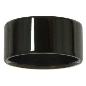 Edelstahlring Edelstahl PVD Beschichtung (schwarz)