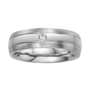 Stainless steel ring Stainless Steel zirconia Stripes Grooves Rills