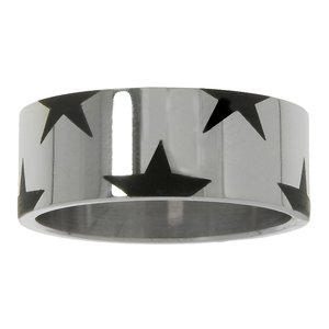 Stainless steel ring Stainless Steel Epoxy Star