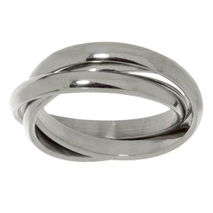 Fingerring Stainless Steel Eternal Loop Eternity