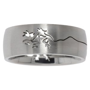 Stainless steel ring Stainless Steel Salamander Gecko Lizard