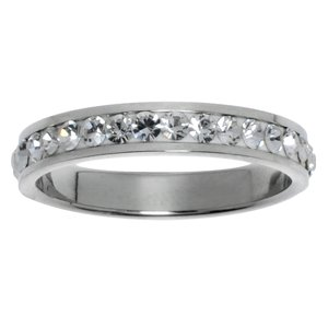 Stainless steel ring Stainless Steel Swarovski crystal