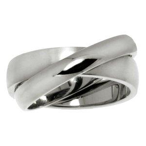 Fingerring Stainless Steel Eternal Loop Eternity