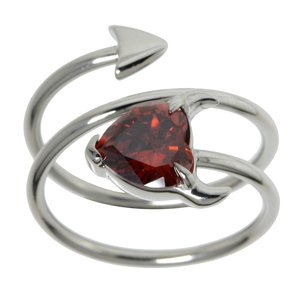 stalen ring Staal Kristal duivelshart duivel_hart hart_met_hoorntjes spiraal