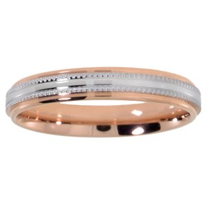 Stainless steel ring Stainless Steel Gold-plated Stripes Grooves Rills