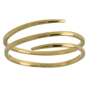Fingerring Stainless Steel Gold-plated Spiral