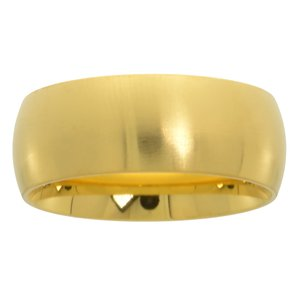 Anillo Acero fino Revestimiento PVD (color oro)
