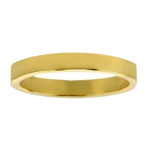 Anello acciaio Acciaio inox Rivestimento PVD (colore oro)