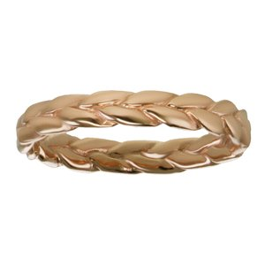 Fingerring Stainless Steel PVD-coating (gold color) Eternal Loop Eternity