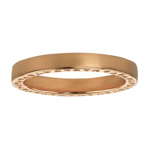 Stainless steel ring Stainless Steel PVD-coating (gold color) Heart Love