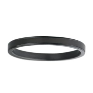 Kids ring Stainless Steel Black PVD-coating