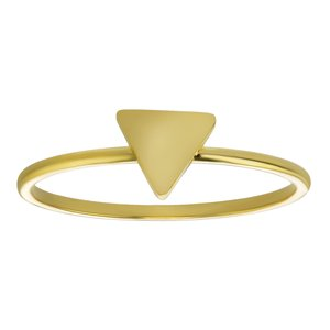 Fingerring Stainless Steel PVD-coating (gold color) Triangle