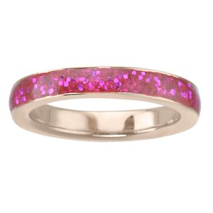 Kids ring Stainless Steel PVD-coating (gold color) Epoxy
