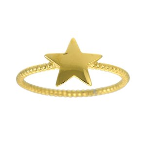 Fingerring Stainless Steel PVD-coating (gold color) Spiral Star