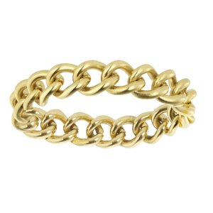 Fingerring Stainless Steel PVD-coating (gold color)