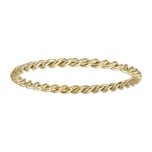 Fingerring Stainless Steel PVD-coating (gold color) Eternal Loop Eternity Spiral