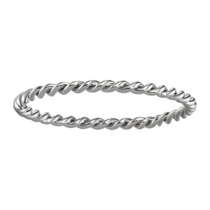 Fingerring Stainless Steel Eternal Loop Eternity Spiral
