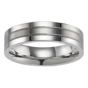 Stainless steel ring Stainless Steel Stripes Grooves Rills