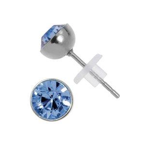Pendientes Acero fino Acero quirúrgico cristales de Swarovski PVC