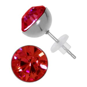 Earrings Stainless Steel Surgical Steel 316L Swarovski crystal PVC