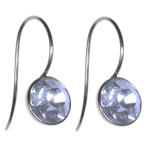 Dangle earrings Stainless Steel Swarovski crystal