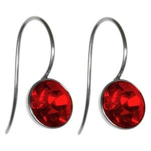 Dangle earrings Stainless Steel Swarovski crystal