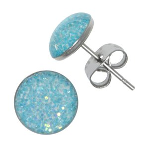 Earrings Stainless Steel Surgical Steel 316L Epoxy