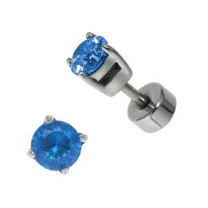 Ohrstecker Chirurgenstahl 316L Kristall