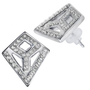 Earrings Stainless Steel Crystal PVC