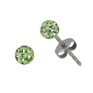 Kinder Ohrringe Chirurgenstahl 316L Kristall Epoxiharz PVC