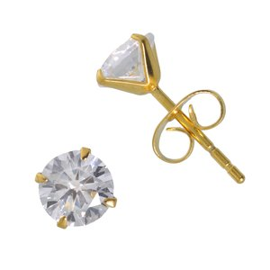 Earrings Stainless Steel Crystal PVD-coating (gold color)