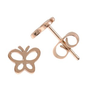 Earrings Stainless Steel PVD-coating (gold color) Butterfly
