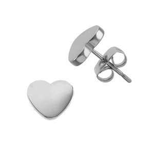Earrings Stainless Steel Heart Love