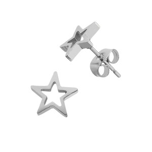 Earrings Stainless Steel Star