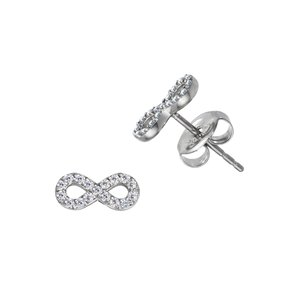 Earrings Stainless Steel zirconia Eternal Loop Eternity