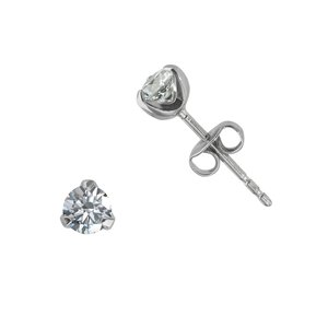 Earrings Stainless Steel zirconia PVC