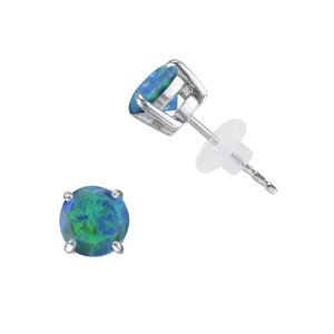 Ohrstecker Edelstahl Synthetischer Opal PVC