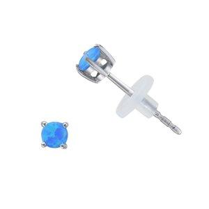 Earrings Stainless Steel Synthetic opal PVC