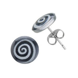 Earrings Stainless Steel Epoxy Spiral