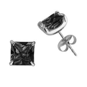 Orecchini Acciaio inox Metallo chirurgico 316L Zircone PVC