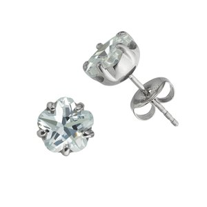 Earrings Stainless Steel Surgical Steel 316L zirconia PVC Flower