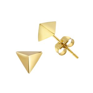 Earrings Stainless Steel PVD-coating (gold color) Triangle